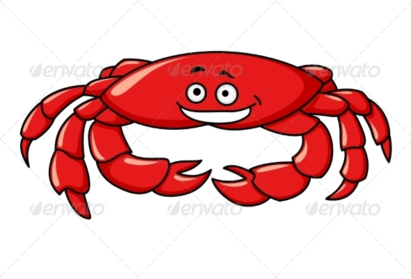 Cartoon Crab - Animals Characters
