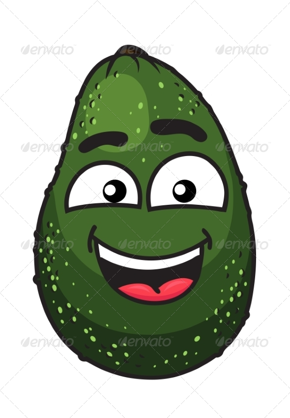 Green Tropical Avocado Fruit - Food Objects