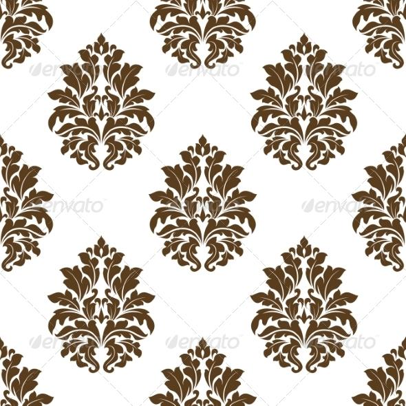 Damask Style Arabesque Pattern - Patterns Decorative