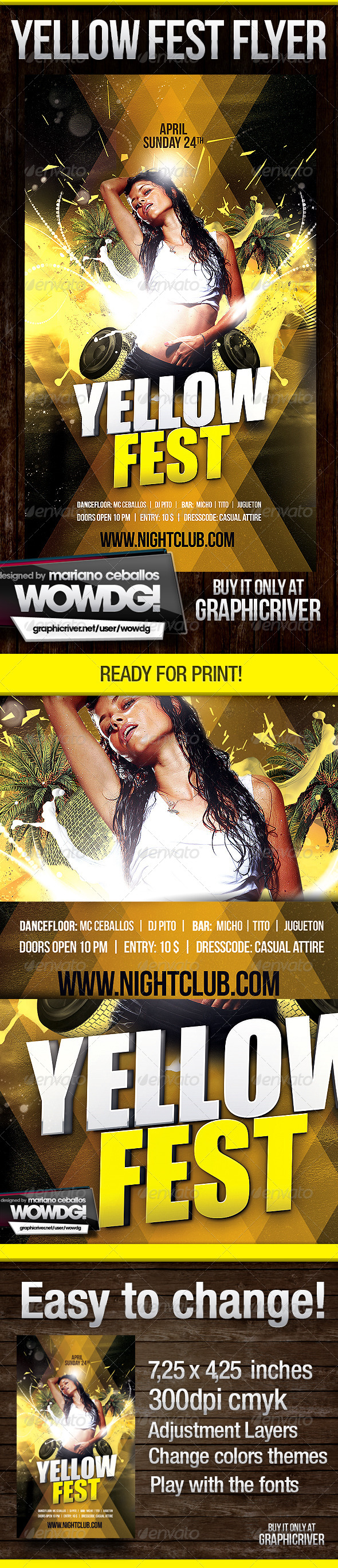 Yellow Fest  - Events Flyers
