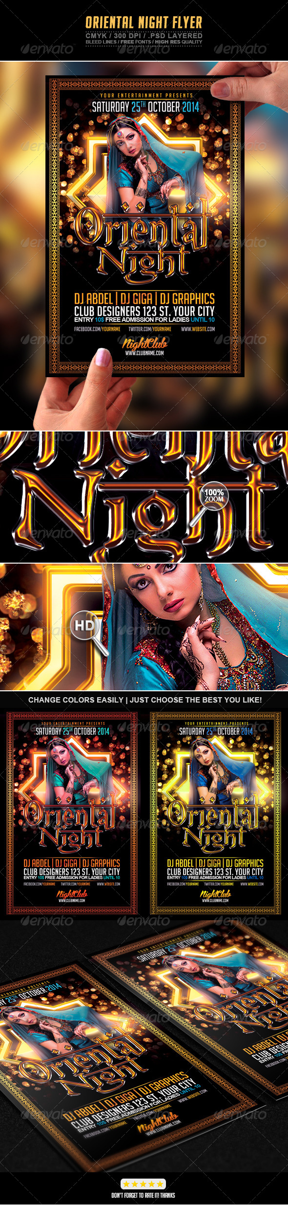 Oriental Night Flyer PSD Template - Events Flyers