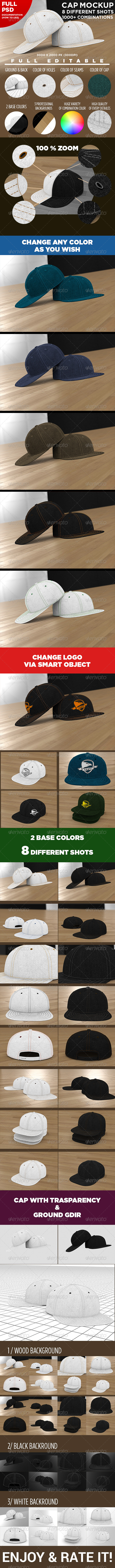 Professional Baseball Cap Mock-up - Miscellaneous Apparel