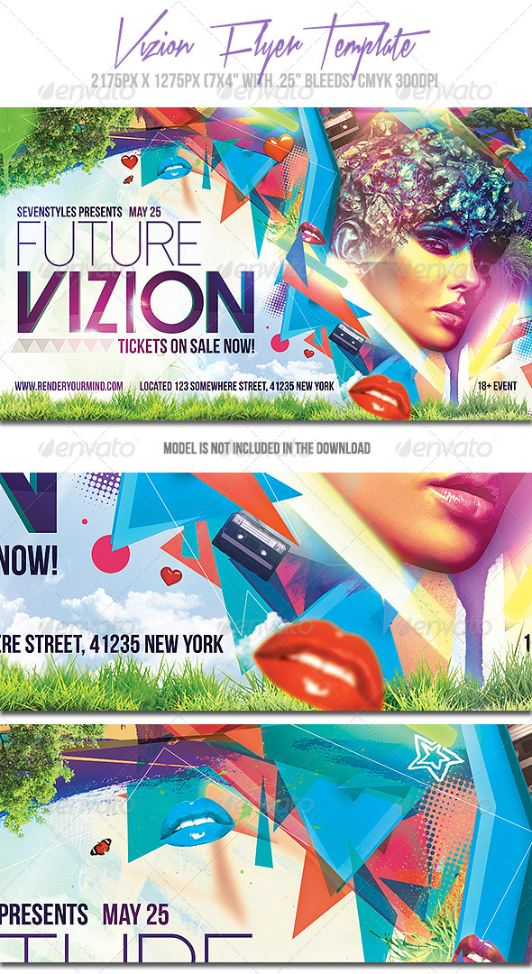 Vizion Flyer Template - Events Flyers