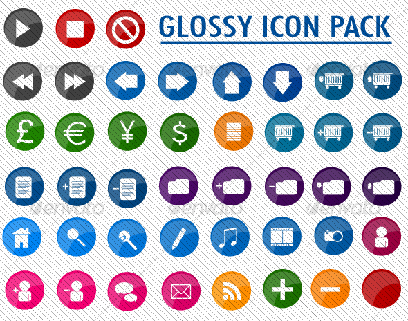 Glossy Icon Pack - Web Icons