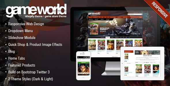 Game Store Shopify Theme - GameWorld