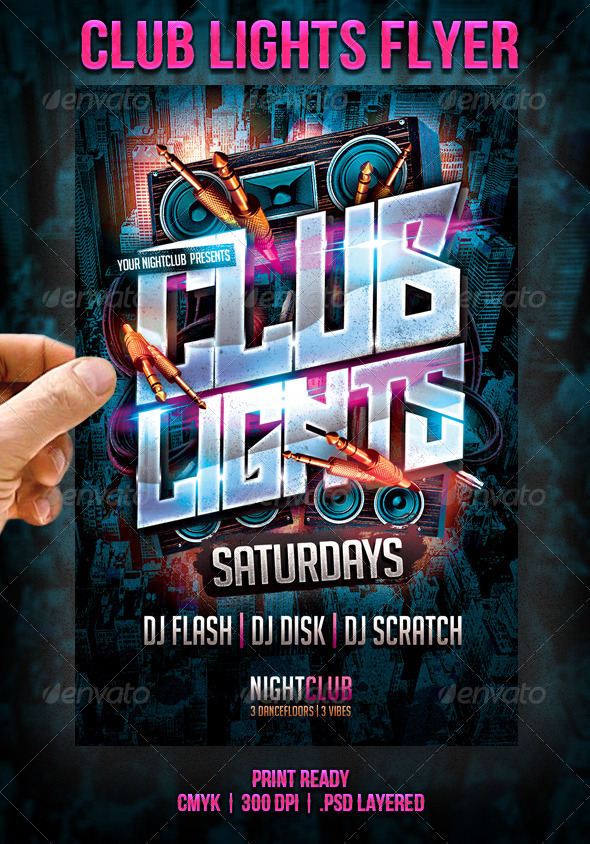 Club Lights Flyer - Events Flyers
