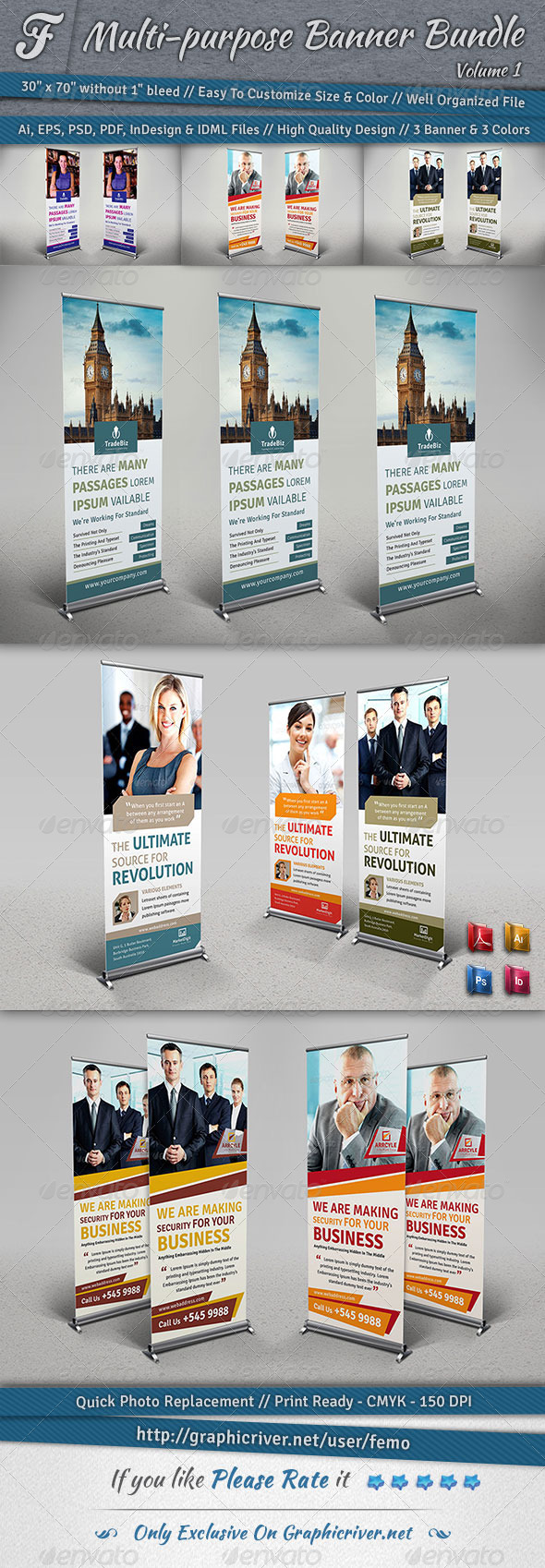 Multi-purpose Banner Bundle | Volume 1 - Signage Print Templates