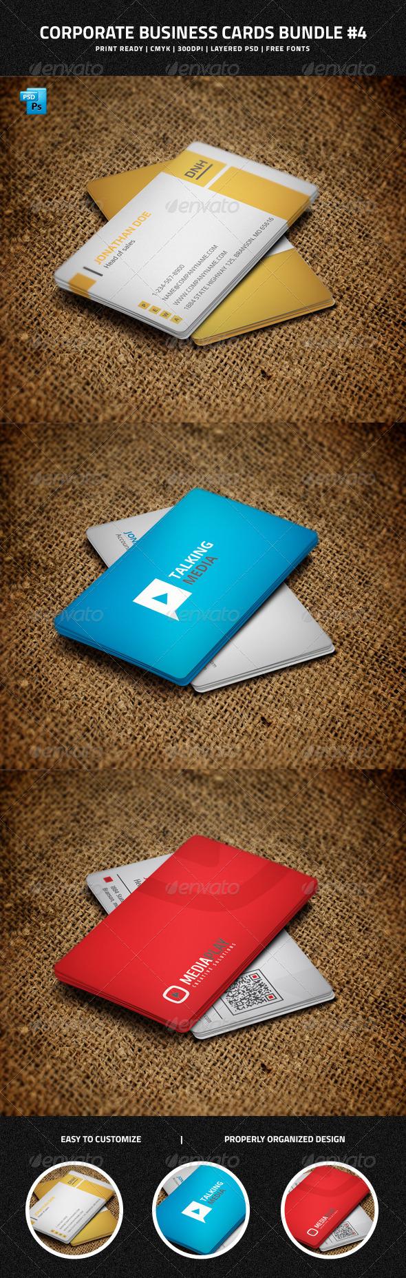 Corporate Business Cards Bundle #4 - Corporate Business Cards