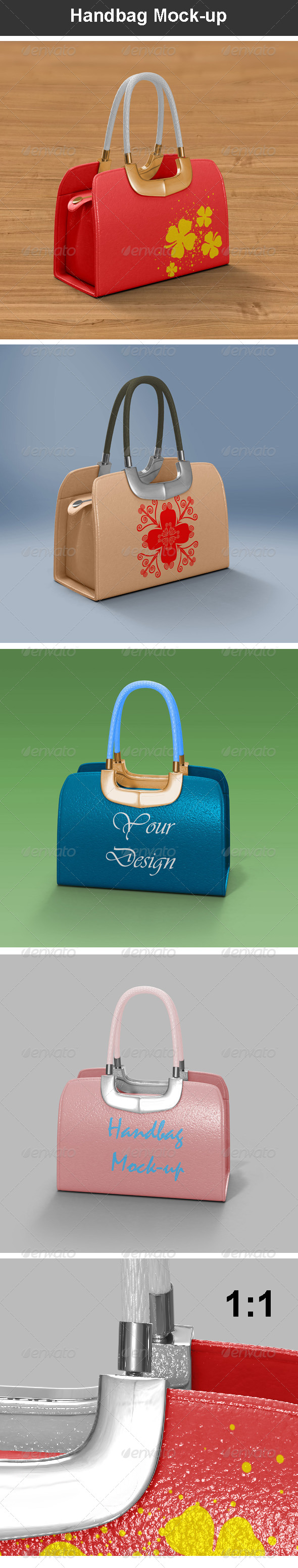 Handbag Mock-up - Miscellaneous Product Mock-Ups