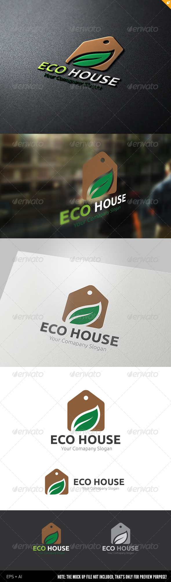 Eco House - Nature Logo Templates