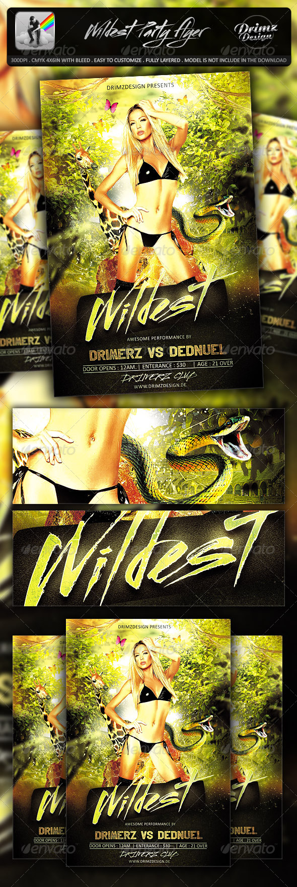 Wildest Party Flyer - Events Flyers