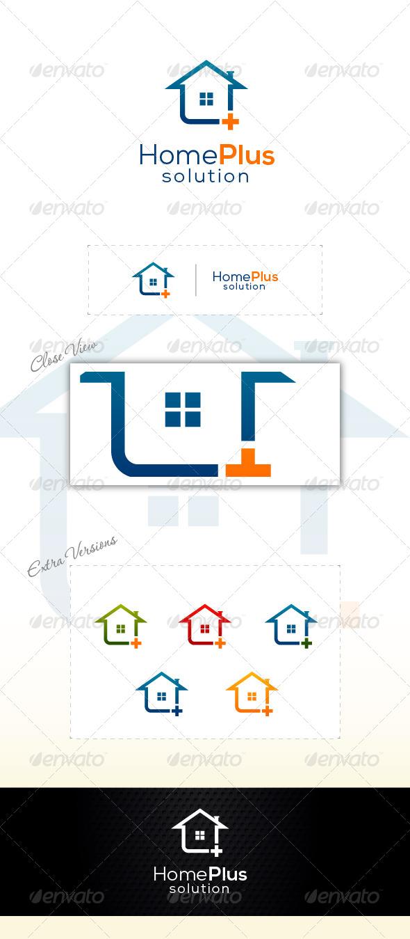 Home Plus - Buildings Logo Templates
