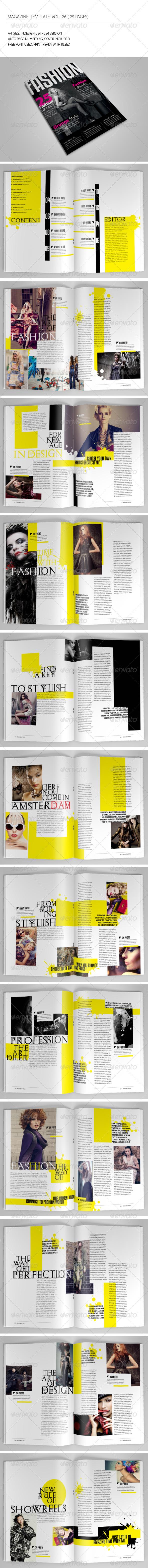 25 Pages Fashion Magazine Vol26 - Magazines Print Templates