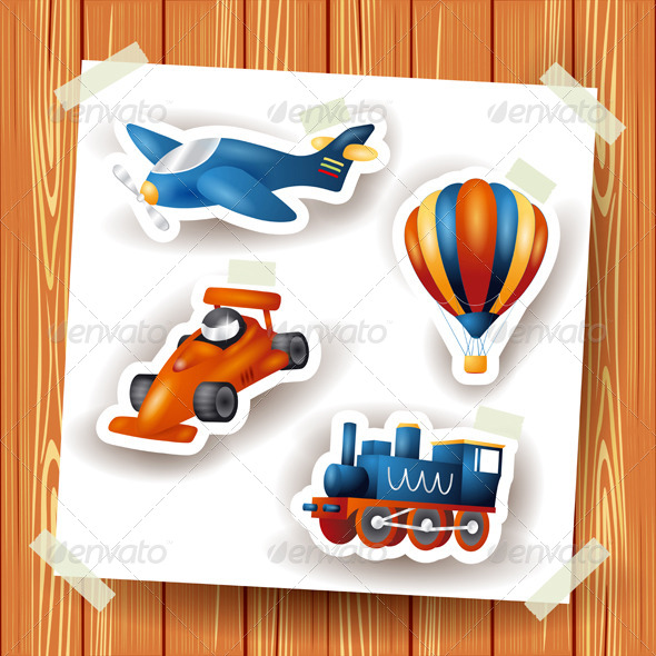 Series of Icons Motor Transport - Technology Conceptual