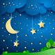 Countryside Fantasy Landscape at Night - GraphicRiver Item for Sale