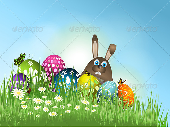Easter Bunny Background - Seasons/Holidays Conceptual