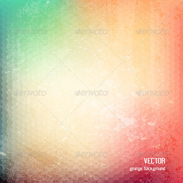 Grunge Geometric Patterned Background - Abstract Conceptual