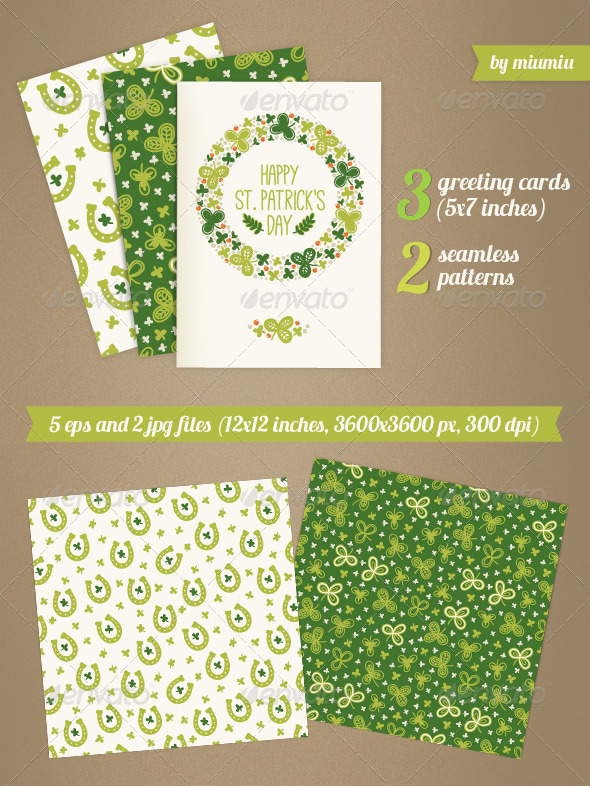 Greeting Cards for St. Patrick's Day - Seasons/Holidays Conceptual