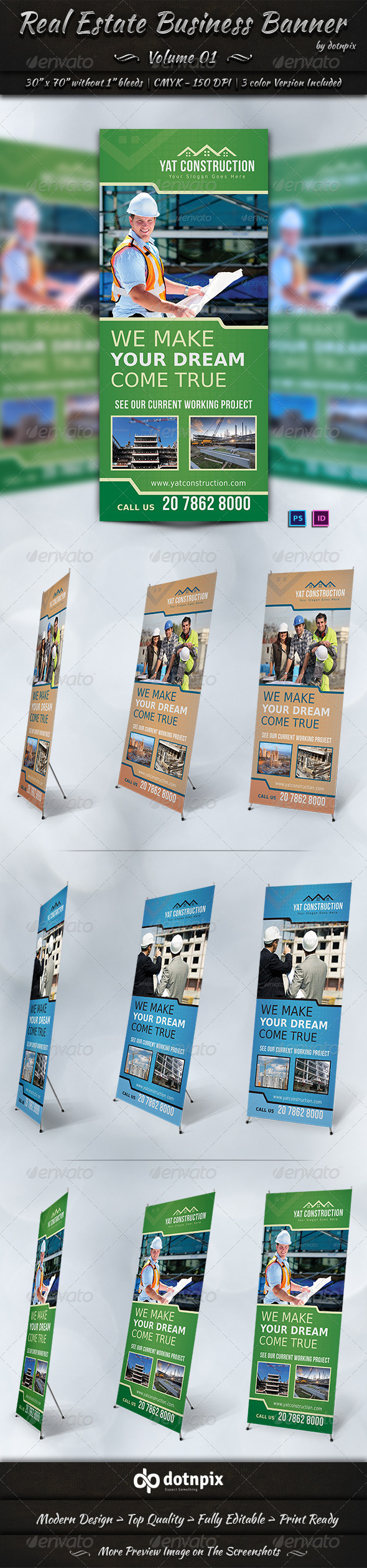 Real Estate Business Banner | Volume 1 - Signage Print Templates