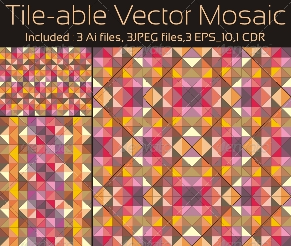 Tile-able Vector Mosaic - Backgrounds Decorative