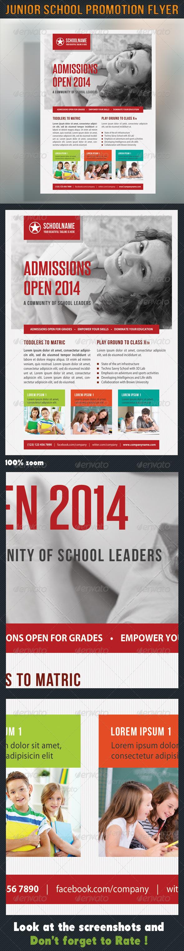 Junior School Promotion Flyer 06 - Corporate Flyers