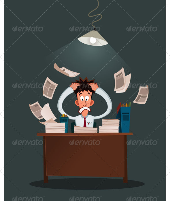 Stressed Worker - Concepts Business