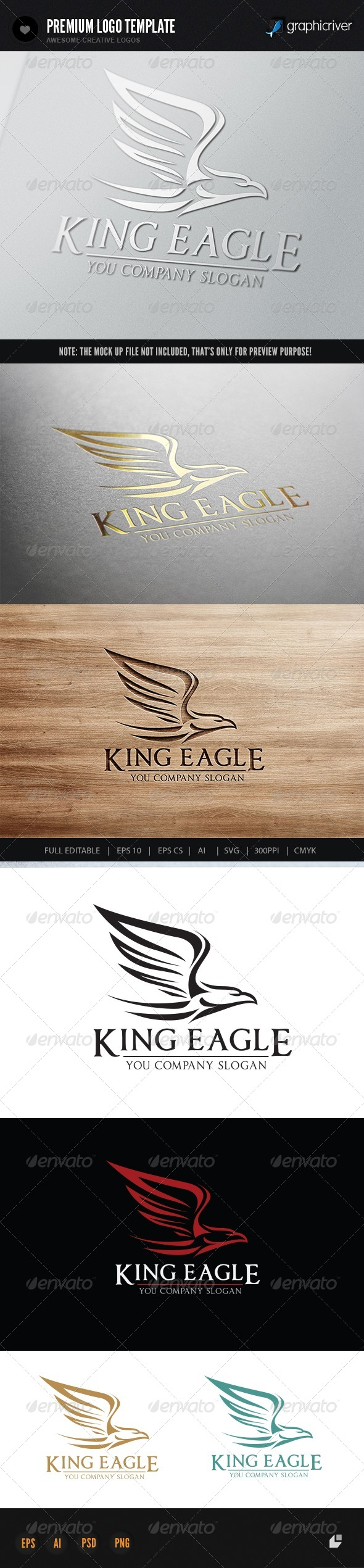 King Eagle - Crests Logo Templates