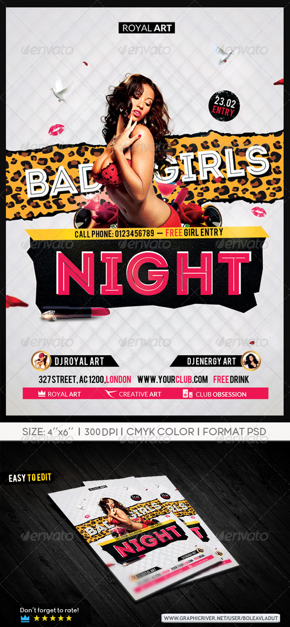 Flyer Bad Girls Night - Clubs & Parties Events