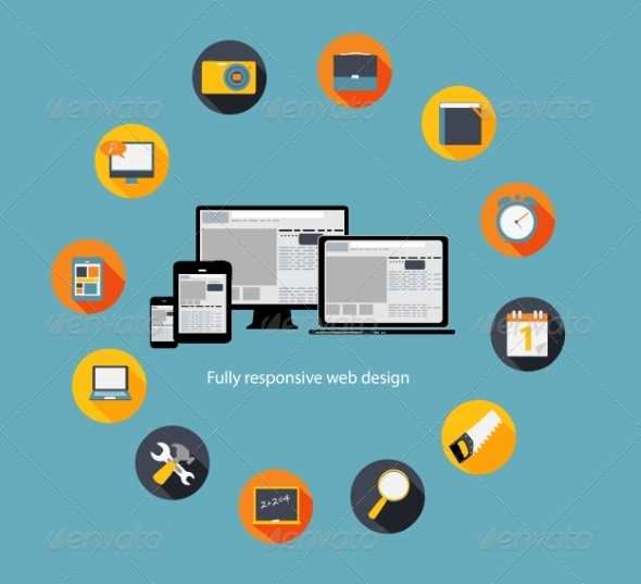 Responsive Web Design Icon - Web Technology
