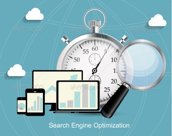 Search Engine Optimization Flat Icon - Web Technology