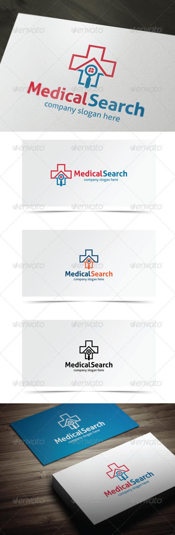 Medical Search - Symbols Logo Templates