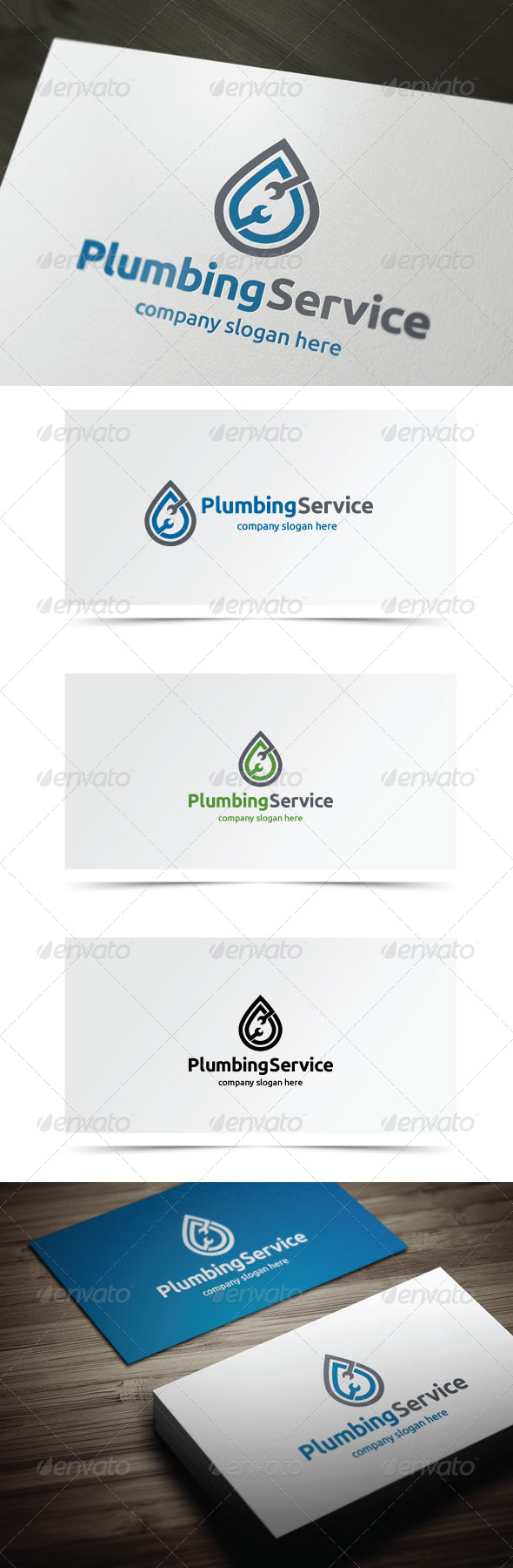 Plumbing Service - Objects Logo Templates
