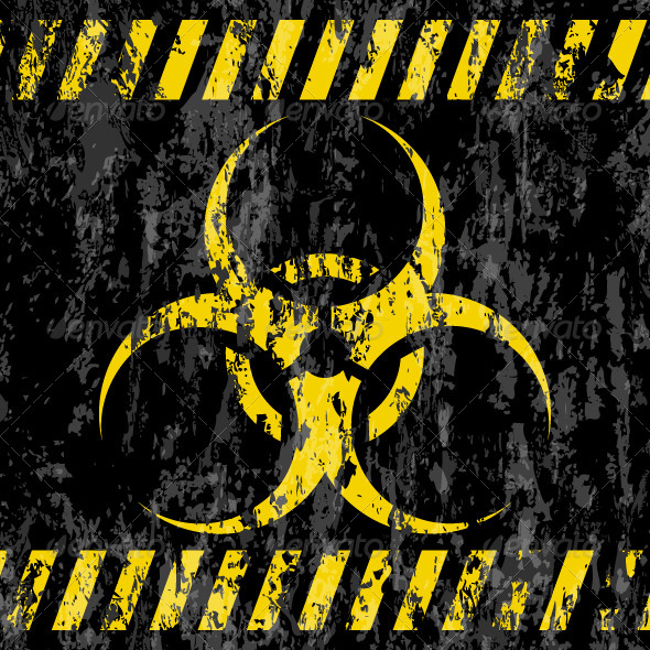 Grunge Bio-hazard Sign  - Industries Business