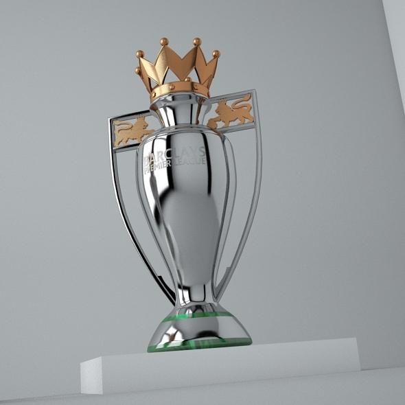 The Premier League Trophy 3D Model
