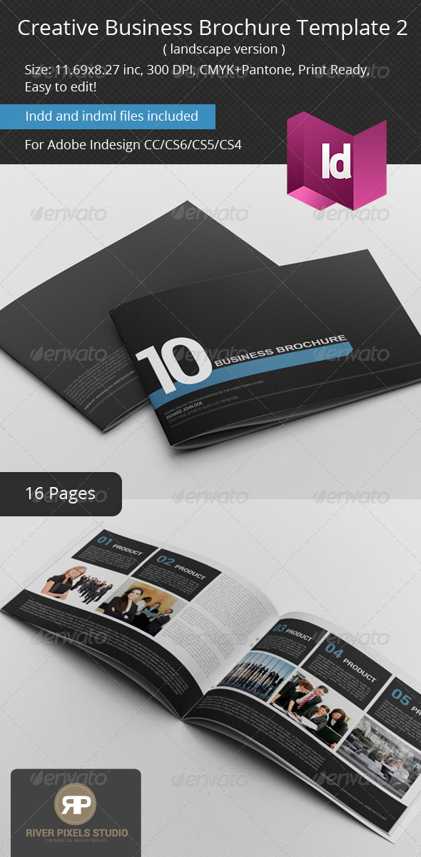 Creative Business Brochure II Landscape - Corporate Brochures