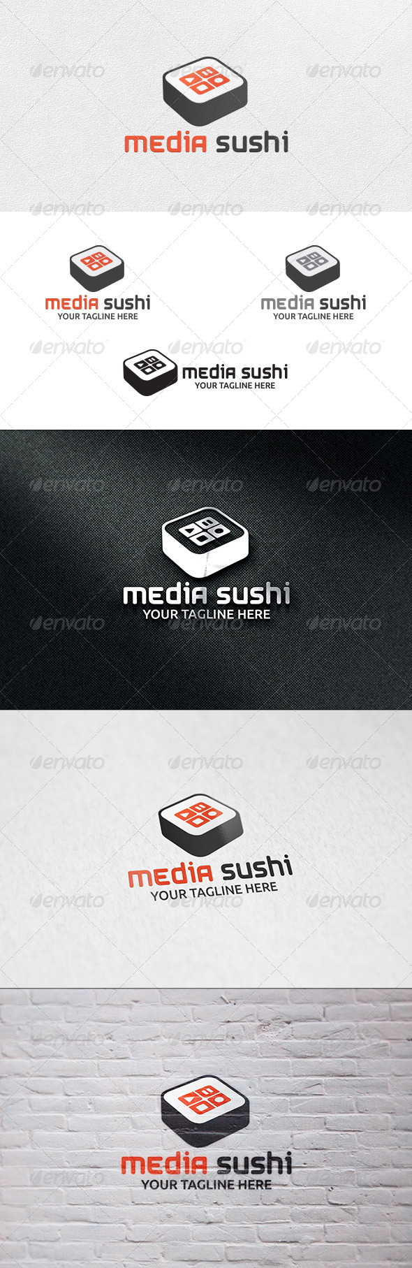 Media Sushi - Logo Template - Food Logo Templates