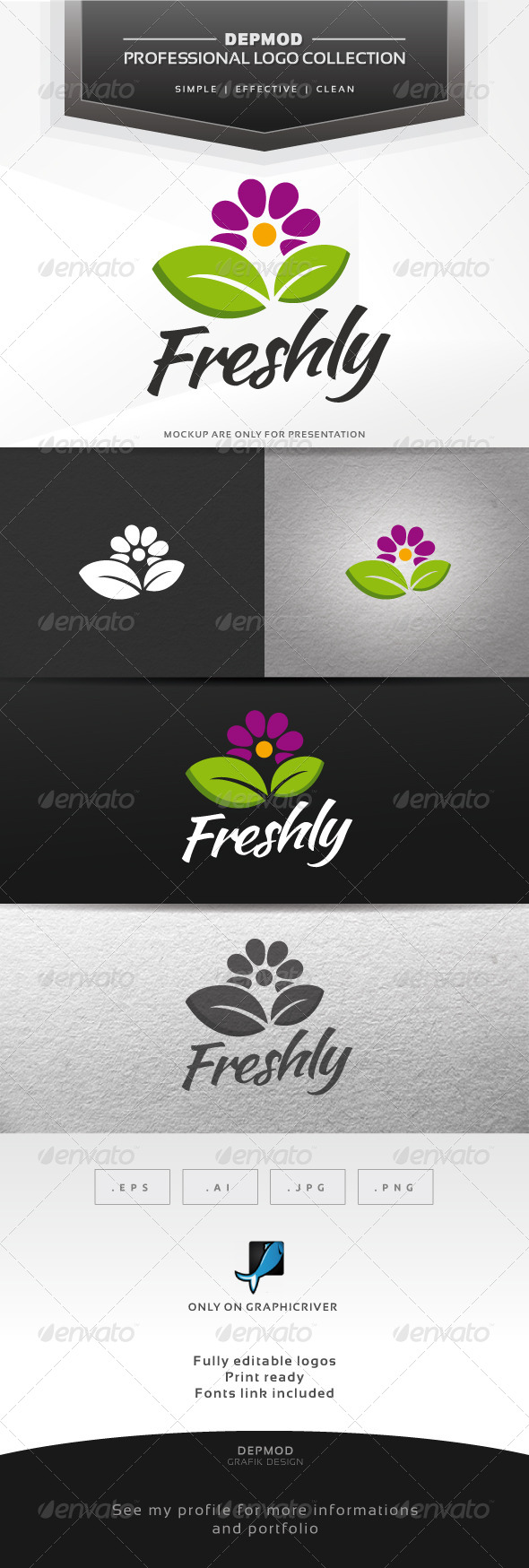 Freshly Logo - Nature Logo Templates