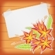 Greeting Card with Scotch Tape and Flowers - GraphicRiver Item for Sale