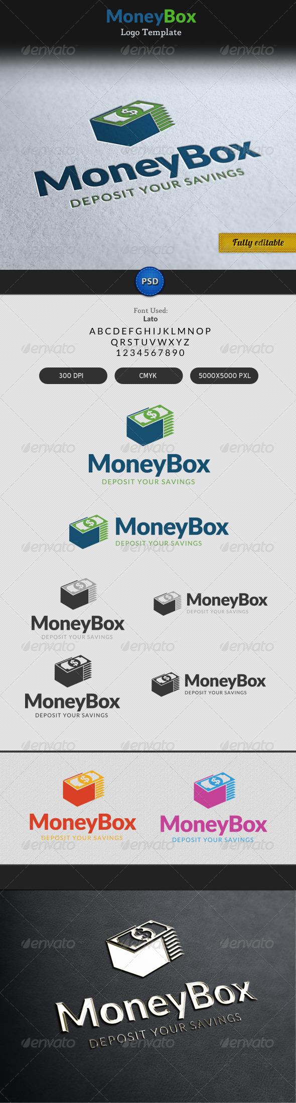 Money Box Currency Dollar Bag Logo - Objects Logo Templates
