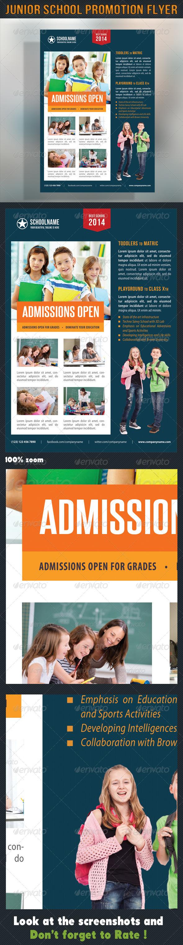 Junior School Promotion Flyer 09 - Events Flyers