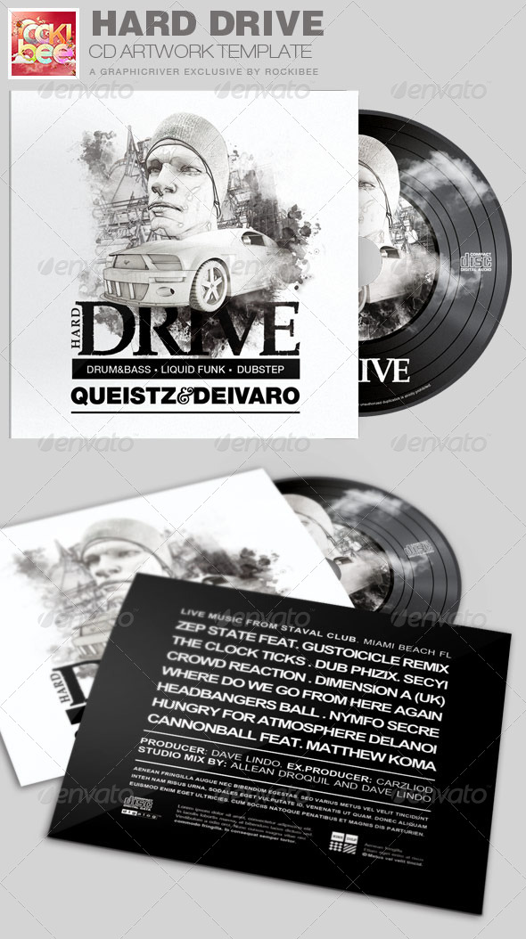 Hard Drive CD Artwork Template - CD & DVD Artwork Print Templates
