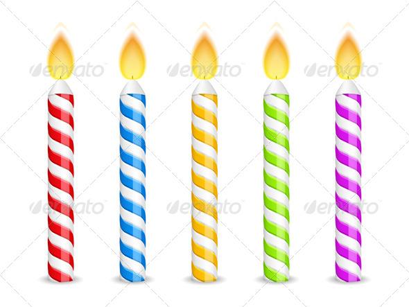 Birthday Candles - Miscellaneous Vectors