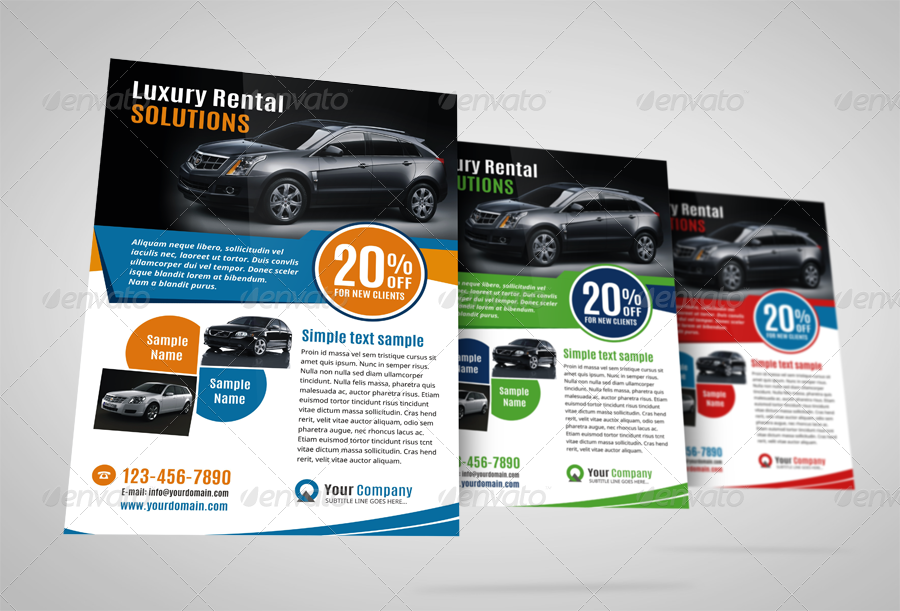 Luxury Car Sale Flyer Ad Design Template by JbnComilla – Car Ad Template