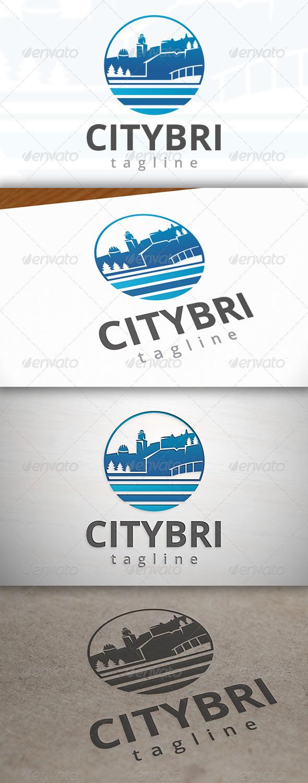 City Bridge Logo - Buildings Logo Templates
