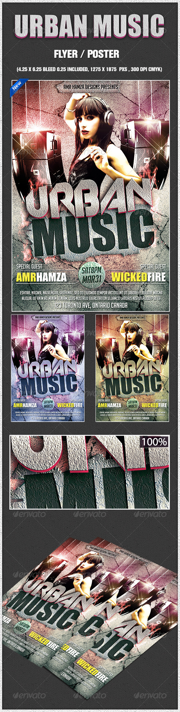 Urban Music Dance Flyer - Clubs & Parties Events