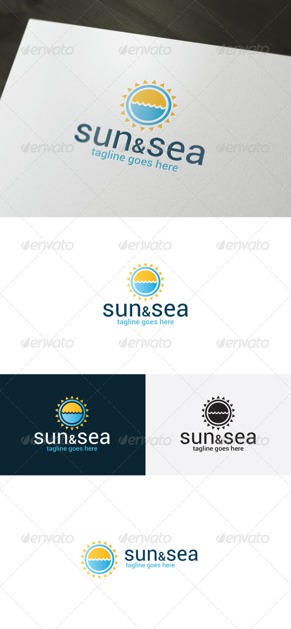 Sun And Sea Logo - Nature Logo Templates