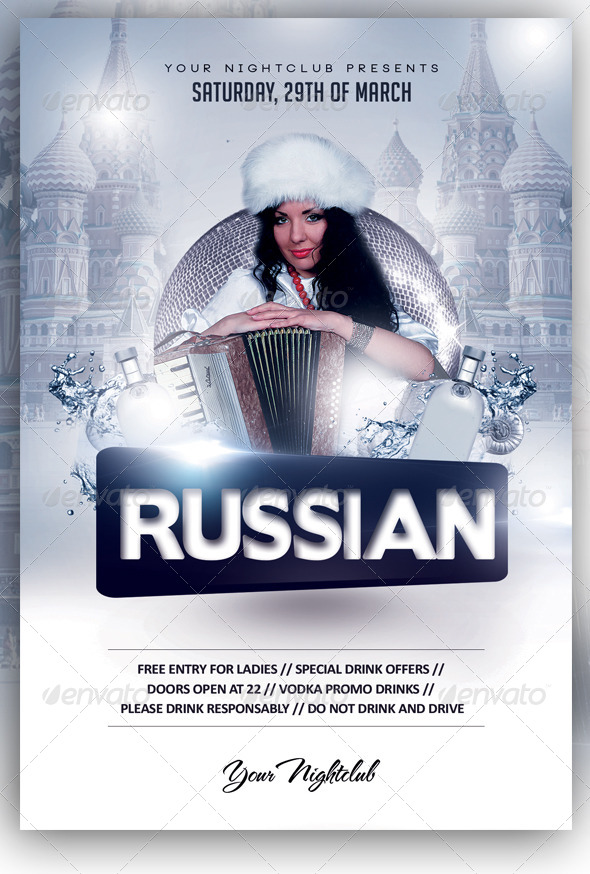 Russian Night Party - Clubs & Parties Events