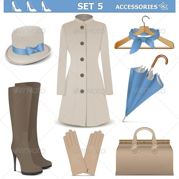 Female Accessories Set 5 - Commercial / Shopping Conceptual