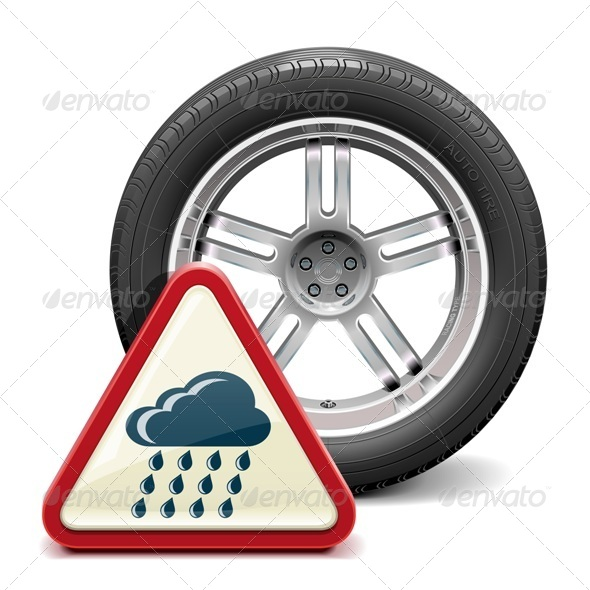 Rain Tire with Sign - Industries Business