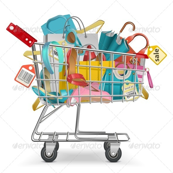 Trolley with Purchase - Commercial / Shopping Conceptual